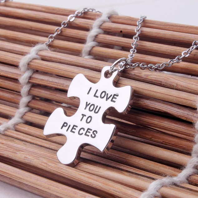 """Sterling Silver """"I Love You To Pieces"""" Necklace"""