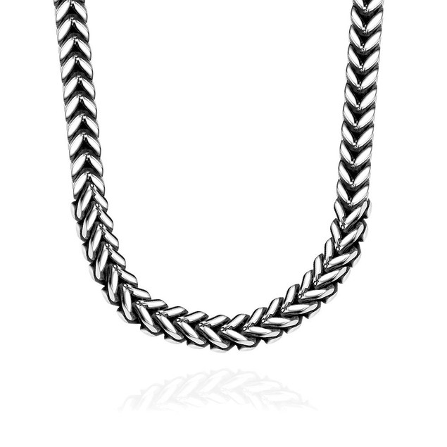 Alpha Steel Grape Vine Stainless Steel Necklace