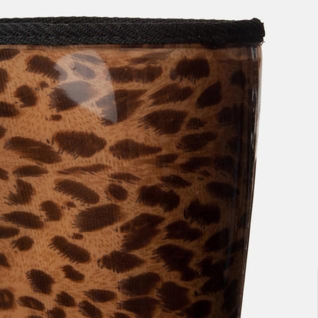 Animal Leopard Print Waterproof Pull On Boots