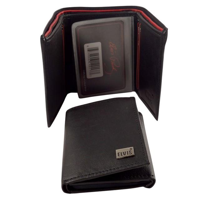 Men's Genuine Lambskin Leather Elvis Presley Bifold/Trifold Wallets