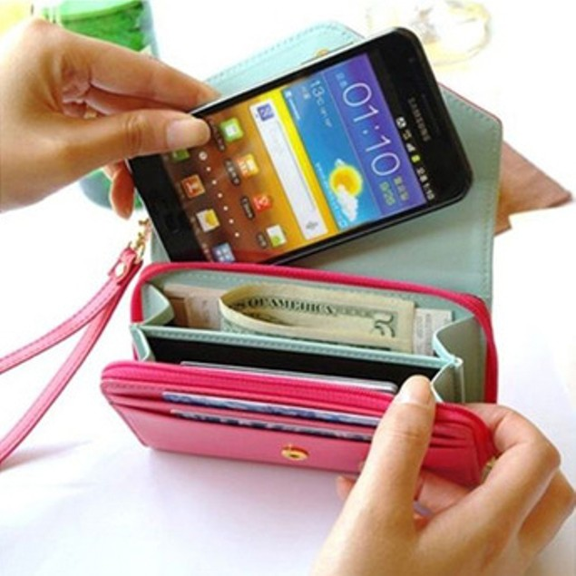 Crown Smartphone Wallet Clutch