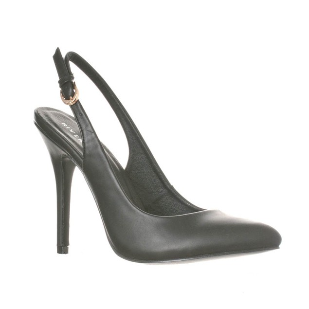 Riverberry Women's Lucy Fashion Pointed-Toe Sling Back Pump Heels