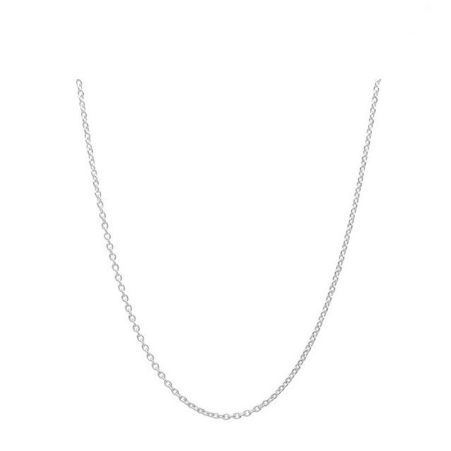 Sterling Silver 0.5mm Cable Chain, 18""