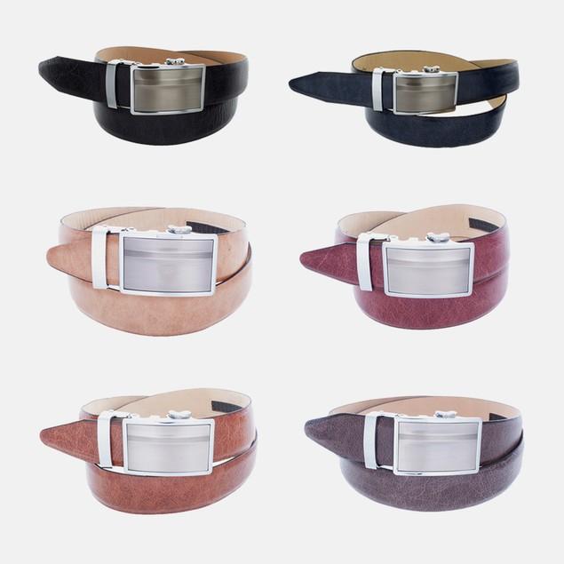 QuickZip Italian Leather Belt - Made in USA