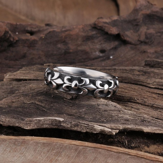 French Emblem Stainless Steel Ring