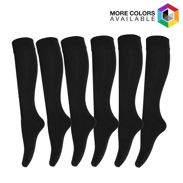 6 Pairs: Ultra Soft Fleece Lined Knee-High Socks