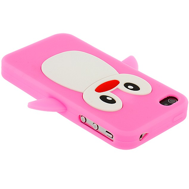 Apple iPhone 4 Silicone Design Soft Skin Case Cover