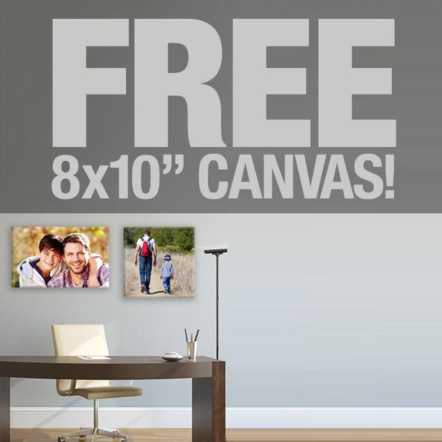 Free 8x10 Canvas Print