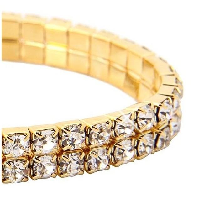 2-Pack- 2 Tier Swarovski Elements Austrian Crystal Bracelet