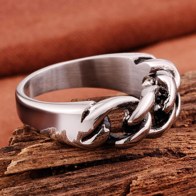 Mini Chain Stainless Steel Ring