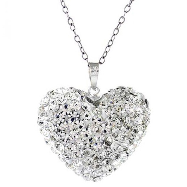 Sterling Silver Bubble Heart Pendant Necklace