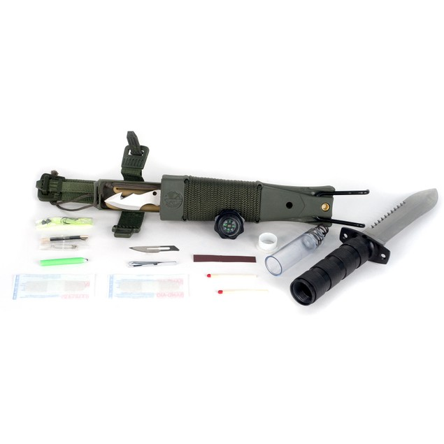 Anchored Eagle Survival Knife with Sheath