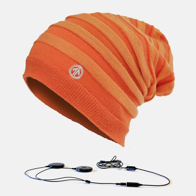 Aerial7 Stereo Headphone Beanie - Bonfire Orange