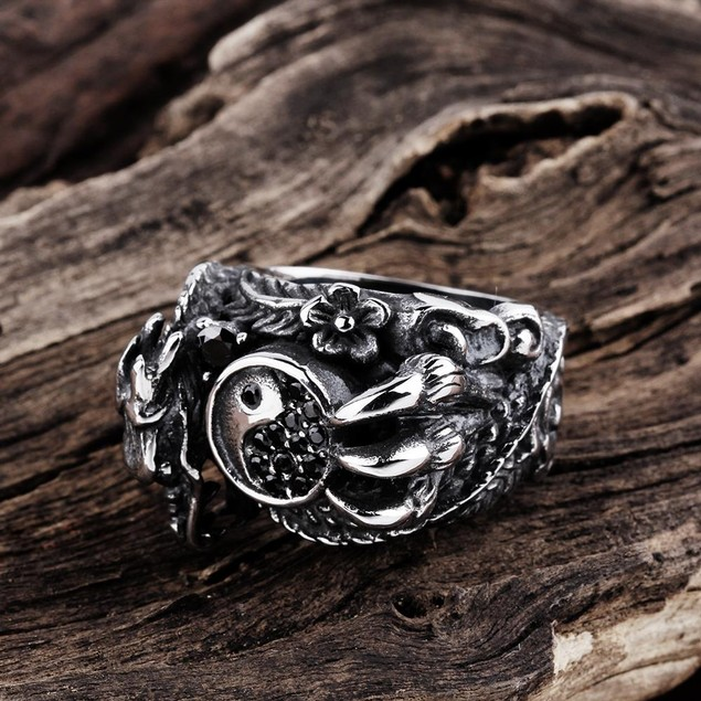 Abstract Claw Stainless Steel Ring