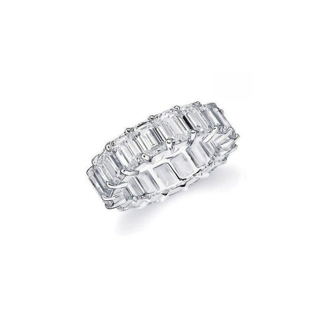 White Gold Plated Eternity Ring