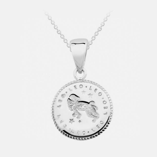 Inspired Sterling Silver Zodiac Pendant - Leo
