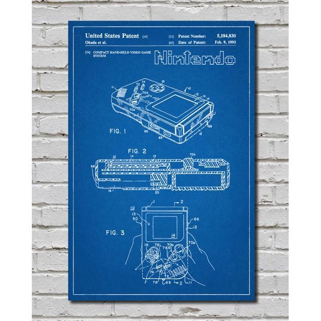 Nintendo Game Boy Patent Print - 3 Colors