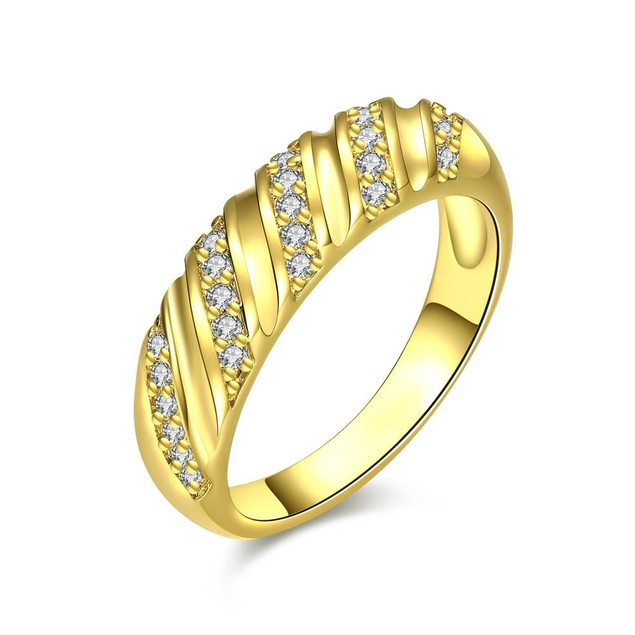Gold Plated Angular Curved Ring