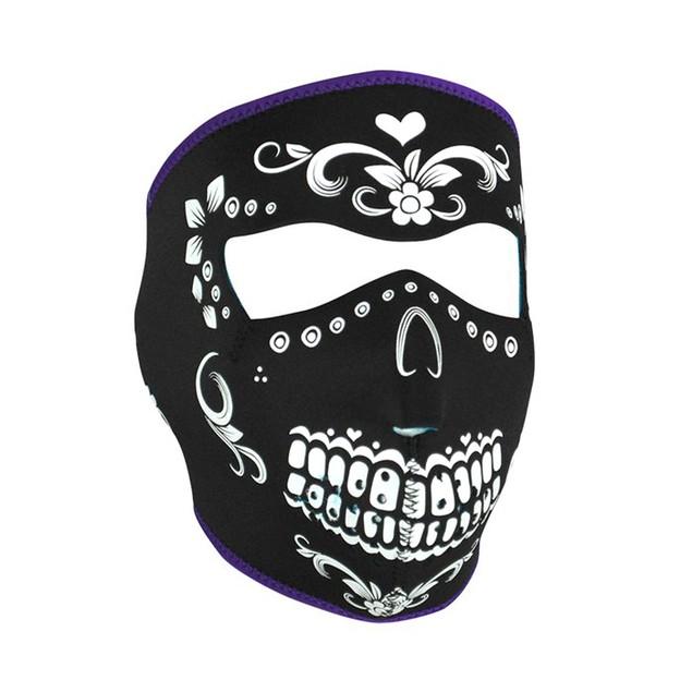 Black and White Muerte Neoprene Full Face Mask