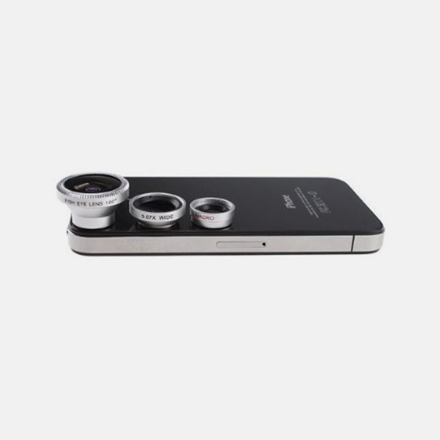 3-in-1 iPhone 4/5-Compatible Lens Kit