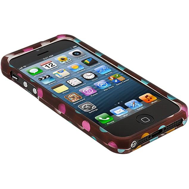 Apple iPhone 5 Hard Rubberized Design Case Cover