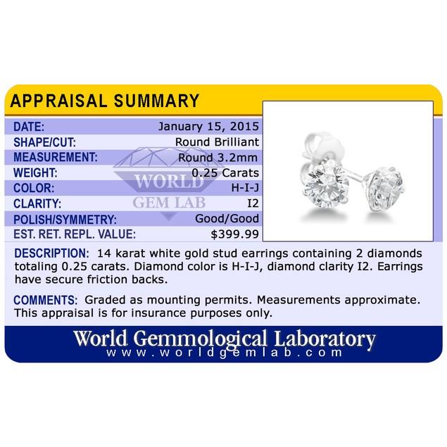 Certified Diamond & Gold Martini Stud Earrings