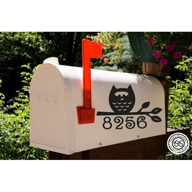 Hooting Time Mailbox Decal