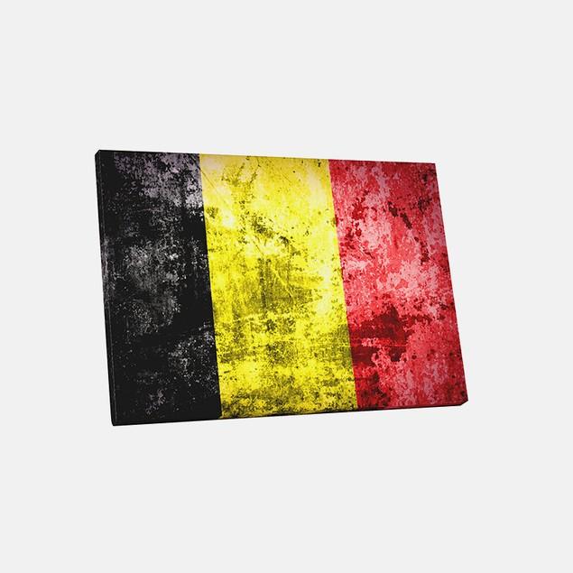Vintage Belgium Flag Canvas Print