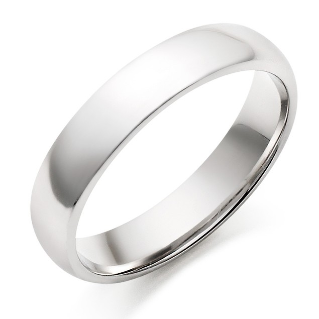 Glossy Mirror Polished Traditional Wedding Band Stainless Steel Ring