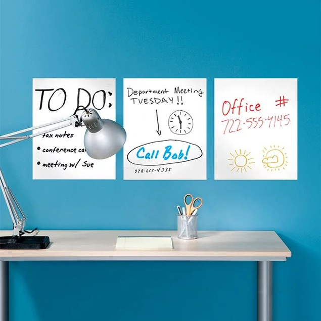 6-Pack Removable Dry Erase Sheets w/ Free Marker