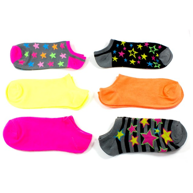 Rampage Women's No Show Socks Assorted Stars - 6-Pack
