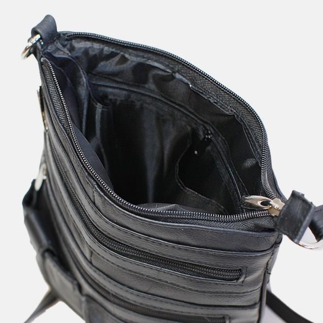 Lexington Unisex Leather Cross-Body Bag