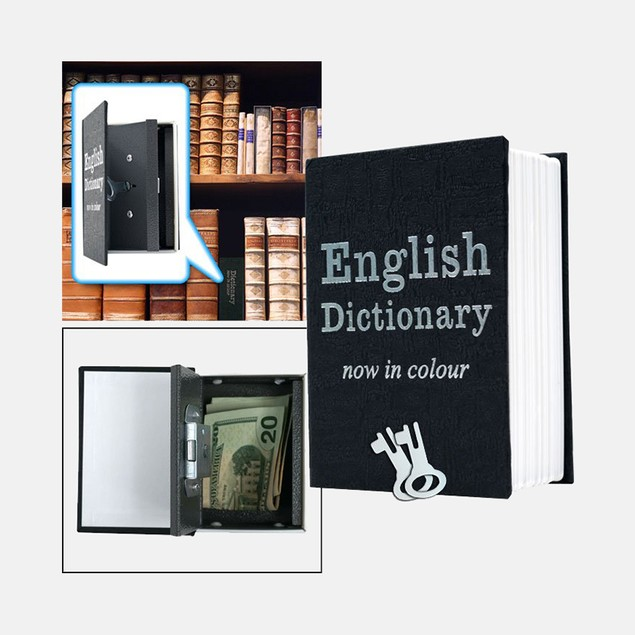 Mini Dictionary Diversion Book Safe w/ Key Lock - Metal