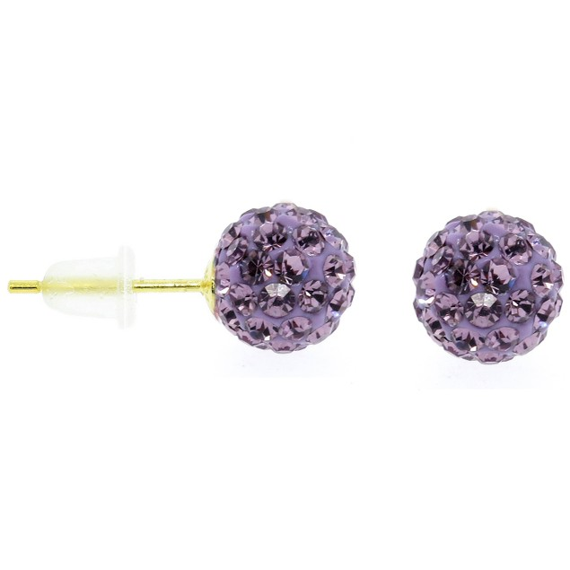 14K Gold Swarovski Elements Ball Studs