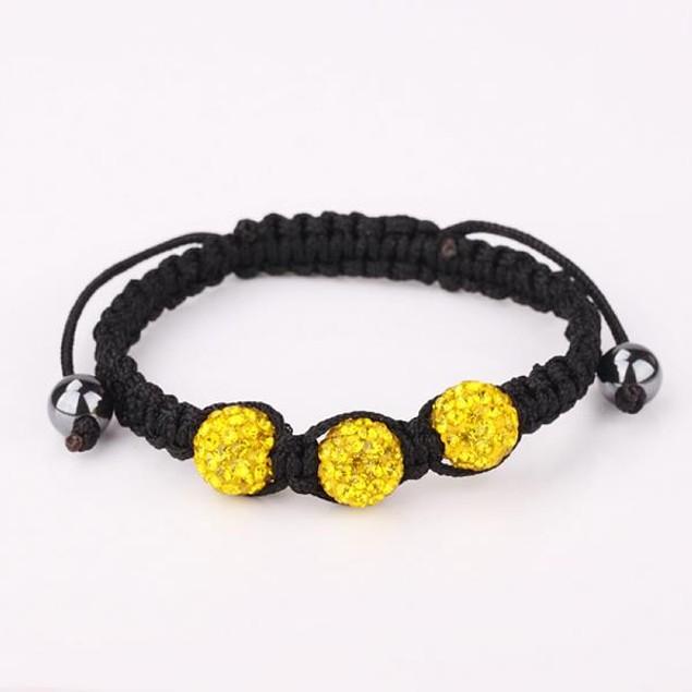 Austrian Crystal Style Bracelet -Citrine
