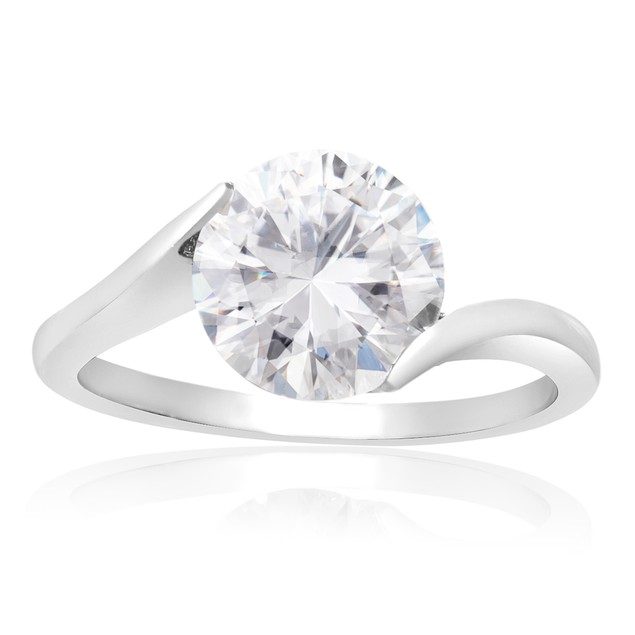 2 Carat Simulated Diamond Solitaire Engagement Ring