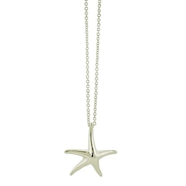 Sterling Silver Star Fish Necklace