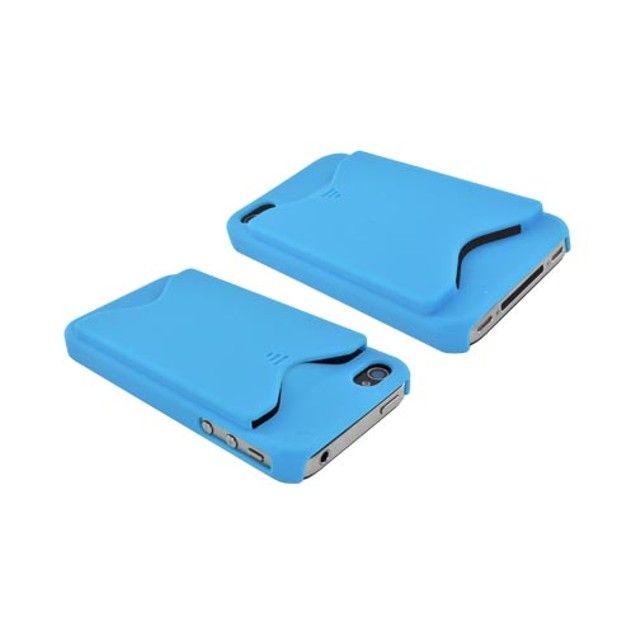 iPhone 4/4S Rubberized Back Cover w/ ID Slot