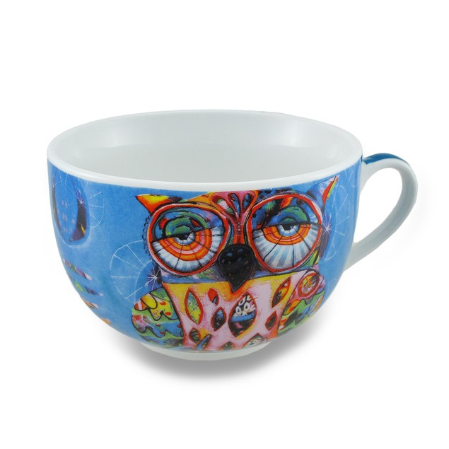 Ceramic Colorful Owl Blue Coffee Mug/Tea Cup And Drinkware Cups With