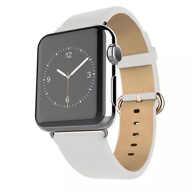 Waloo Leather Grain Apple Watch Replacement Band for All Series
