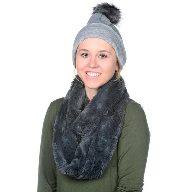 Posh Plush Winter Hat/Scarf Set with FREE Keychain