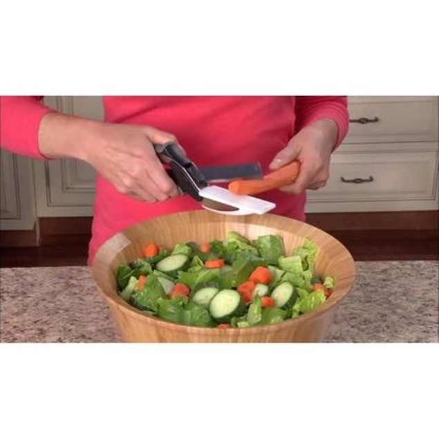 Smart Cut 2-in-1 Knife & Cutting Board with Safety Latch