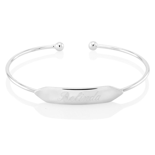 Personalized Rectangle Bar Bangle with Free Gift!