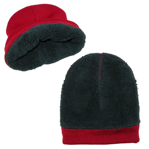2-Pack Polar Extreme Thermal Fleece Insulated Stocking Beanie Cap