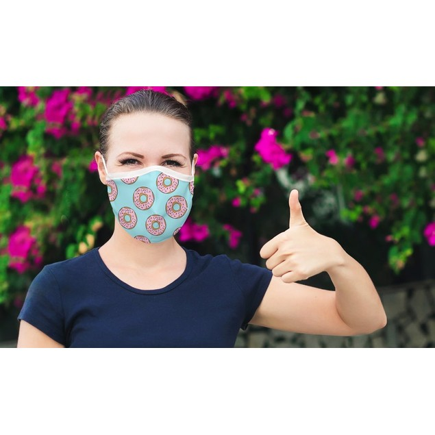 Double Layer Reusable Face Mask With Adjustable Loop (3 -Pack)