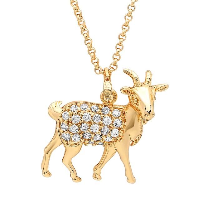 18k Gold Plated Lamb Pendant