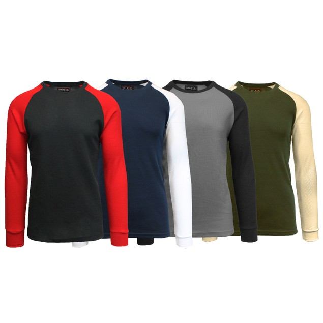 4-Pack Men's Galaxy by Harvic Waffle Knit Thermal Shirts