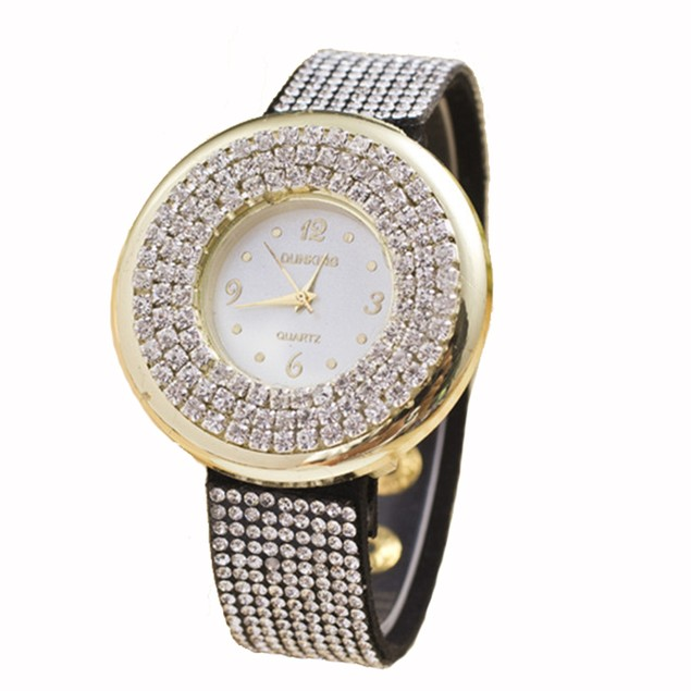 Rhinestone Fashion Watch - 2 Colors