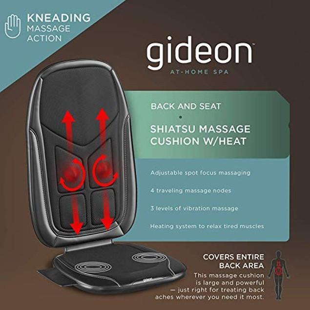 Gideon Six-Program Customizable Massaging Cushion with Heat