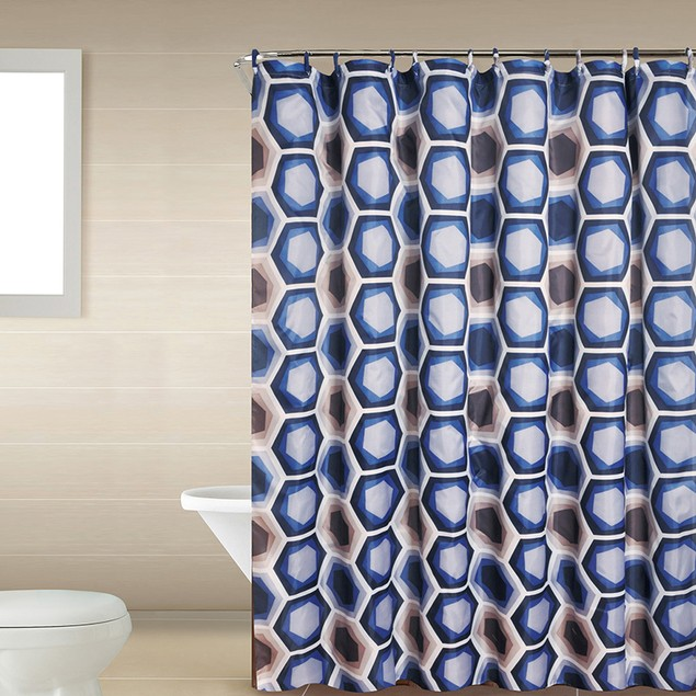 Home Dynamix Shower Curtain and Bath Rug Set: 18 Piece Bath Set